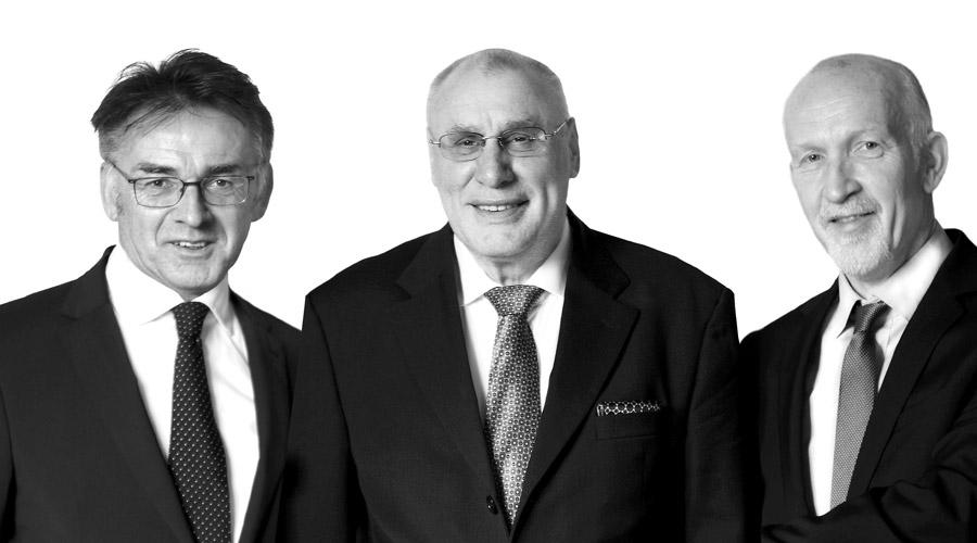 Prof. Dr. h.c. Wilhelm Hauser, Dr. Michael Harz, Günter Conrad